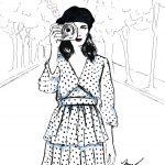 fashion illustration for Galit Cohen fashion blogger