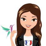 illustration for Vanessa Hummingway - a french fashion blogger
