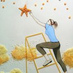 food art illustration with Strauss group for 2017 international women's day