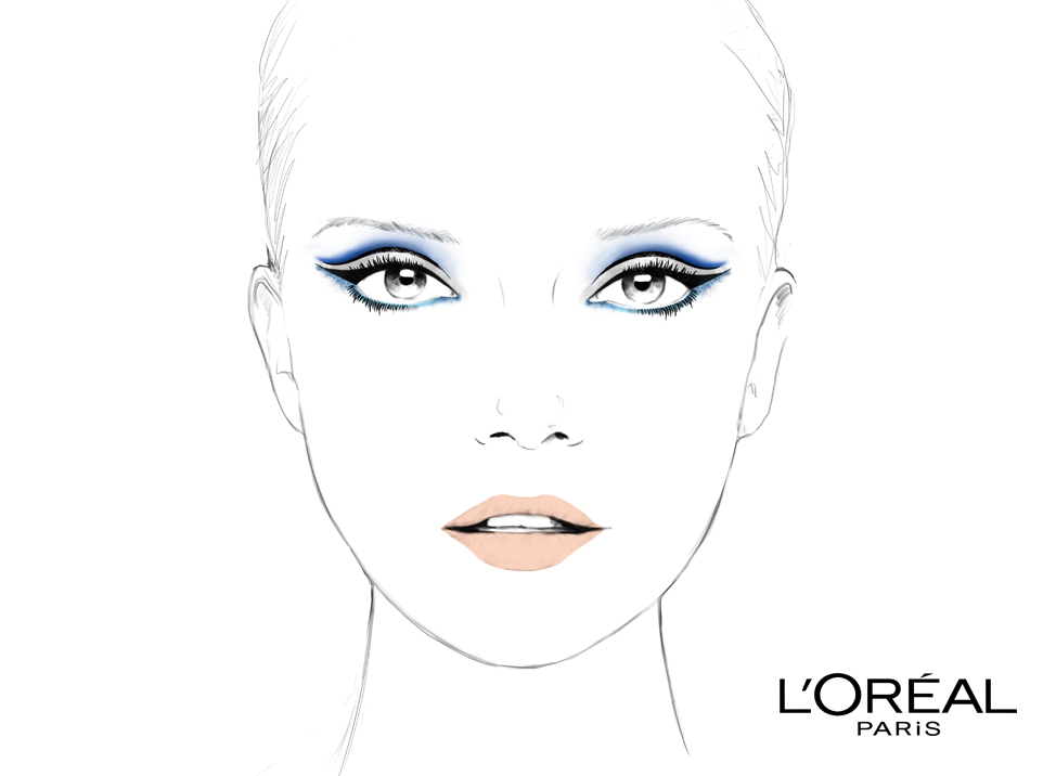 loreal facechart makeup illustration