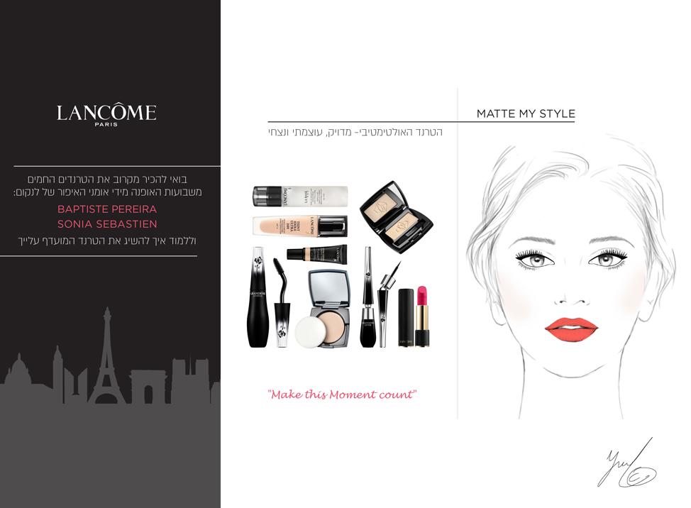lancome makeup illustration facechart