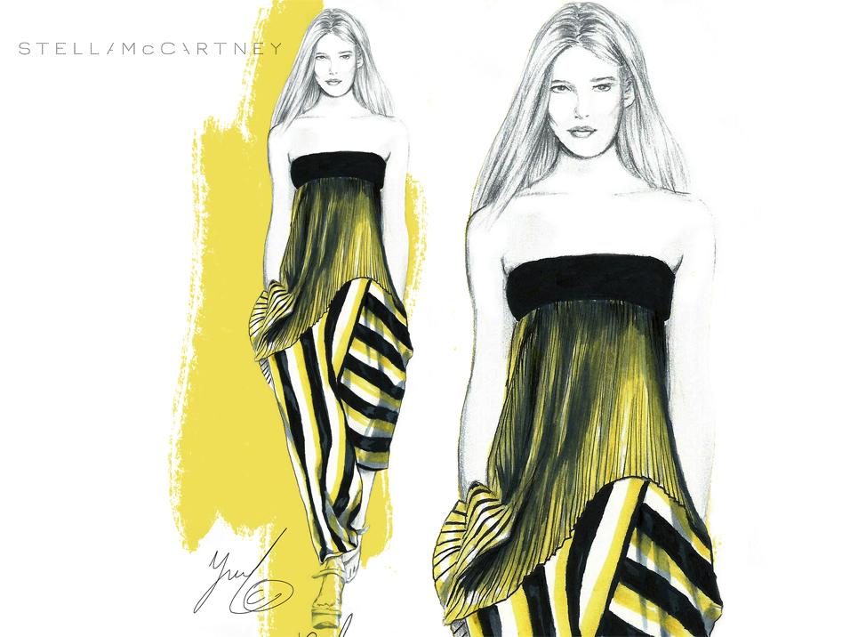 stella mccartney fashion illustration