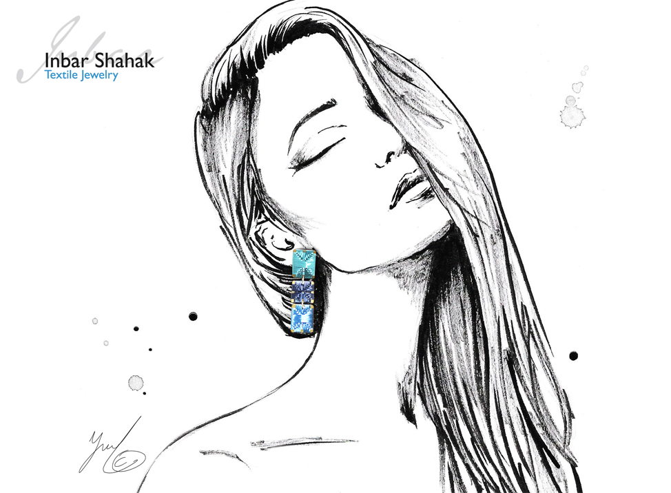 jewelry fashion illustration for inbar shahak
