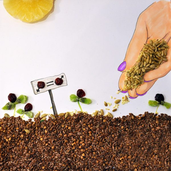 Strauss group food art illustrations