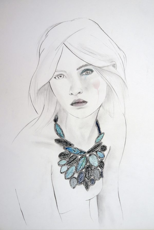 Jewelry illustrations for exhibitions and brochures