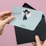 invitation design with fashion illustration stationary