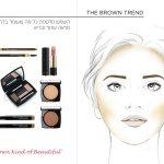 Lancome facechart fashion illustration for a brochure