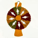 food art illustration with Strauss group for 2017 international women's day using spices on a wheel of fortune. we all have the same chance!