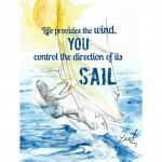 inspirational watercolor sport surf illustration
