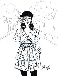 fashion illustration for Galit Cohen fashion blogger