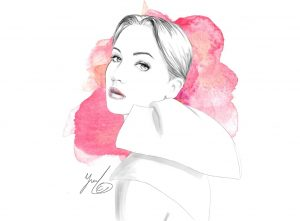 miss dior fashion illustration