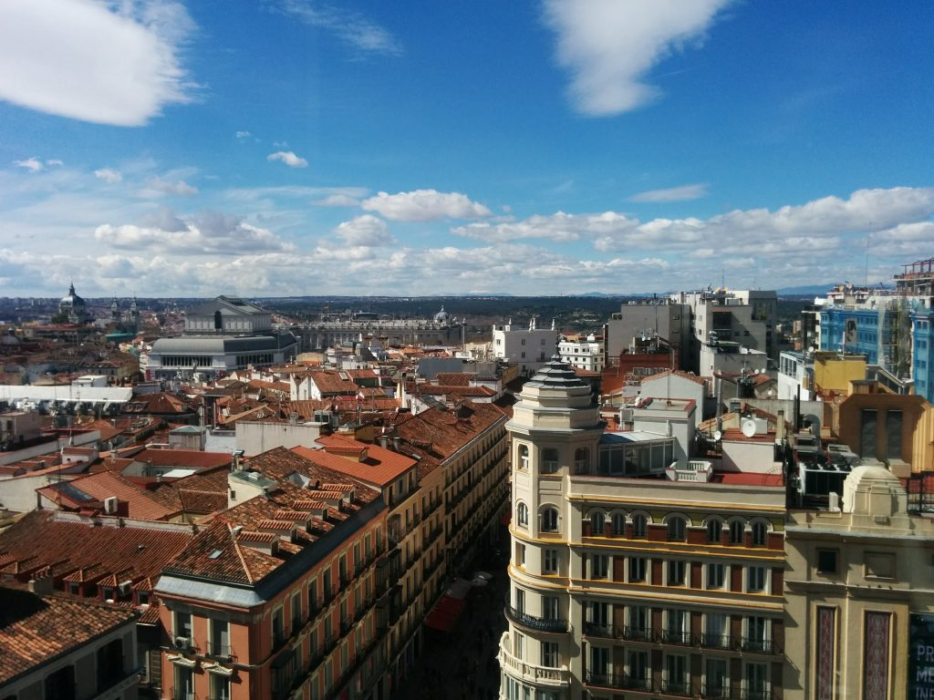 madrid skyline view