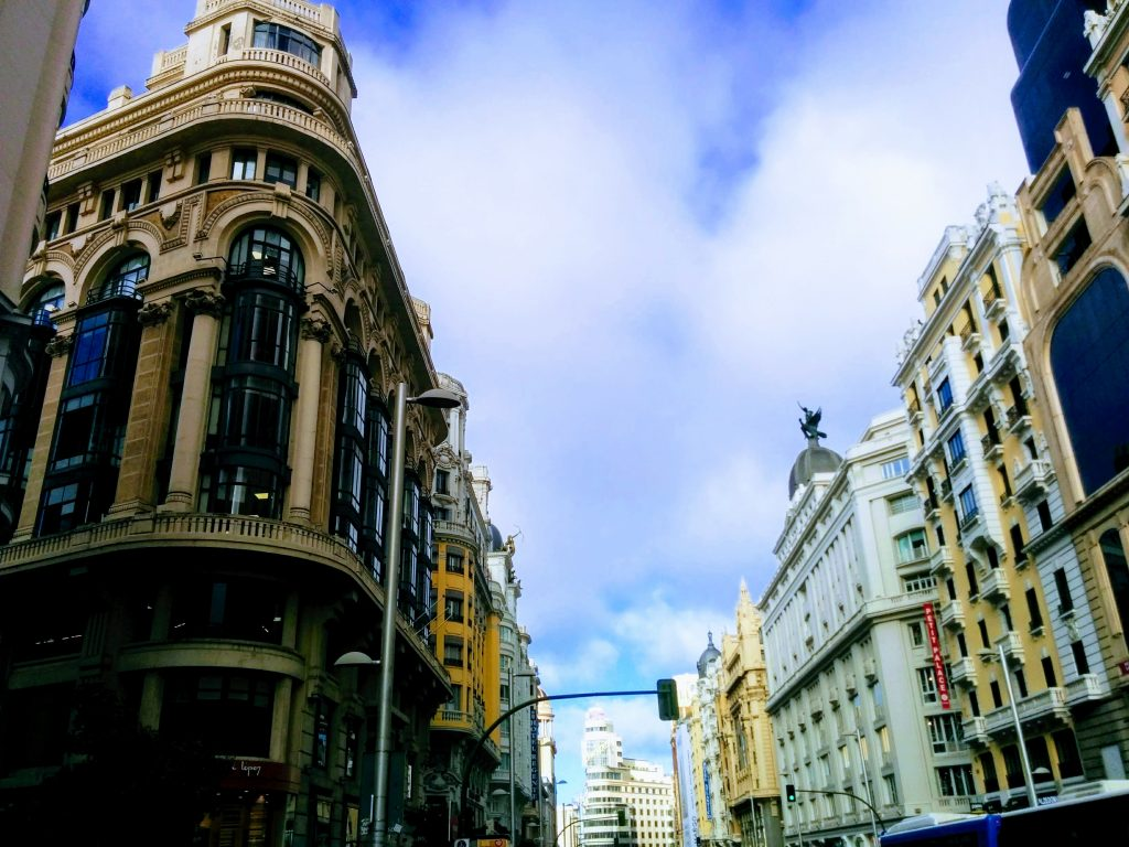 gran via street in madrid