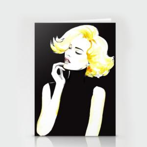 blonde seasonal card