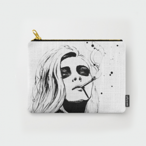 fashion illustrated clutch