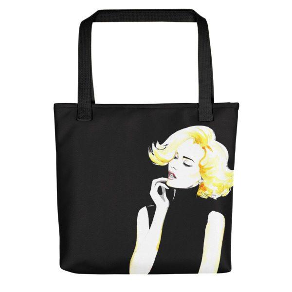 all black tote bag