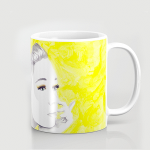 yellow printed cup