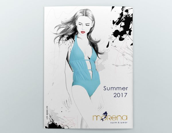 Fashion illustrations for a swimwear catalogue